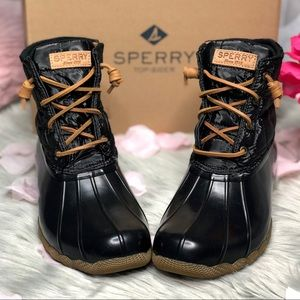 Sperry Saltwater Nylon Quilted Duck Rain Boots